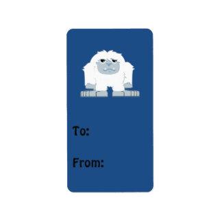 Cute little Yeti Label