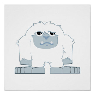 Cute little Yeti Poster