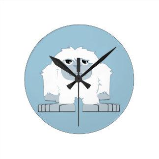 Cute little Yeti Round Clock