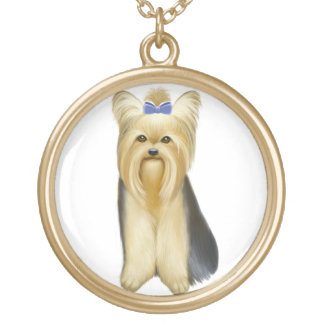 Cute Little Yorkshire Terrier Dog Necklace