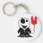 cute little zombie dude basic round button keychain