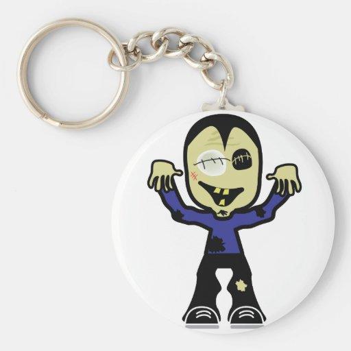 Cute Little Zombie Dude Key Chain