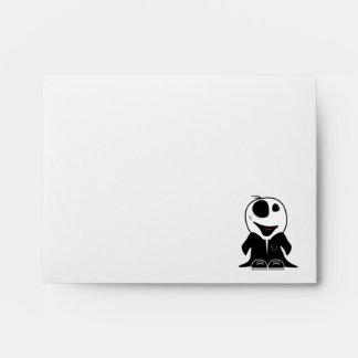 cute little zombie dude original envelopes