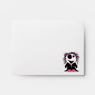 cute little zombie girly envelope
