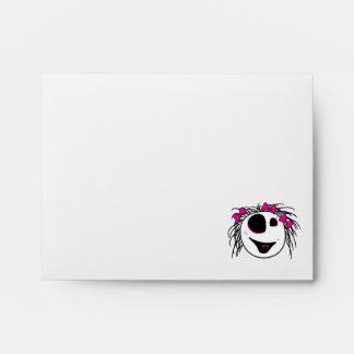 cute little zombie girly head envelope