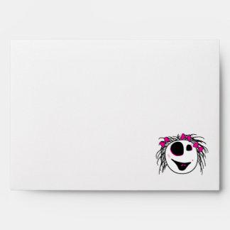 cute little zombie girly head envelopes