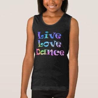 Cute Live Love Dance Dancer's Tank Top