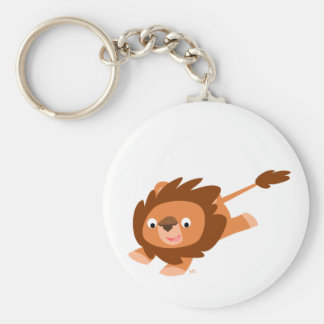 Cute Lively Cartoon Lion Keychain