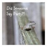 Cute Lizard Close Up Custom Invitations