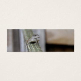 Cute Lizard Close Up Mini Business Card