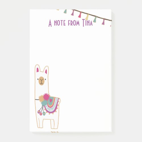 Cute llama and tassels design post_it notes