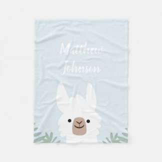 Cute Llama Fleece Blanket