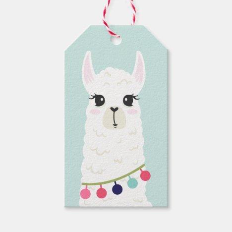 Cute Llama Girl's Birthday Gift Tags