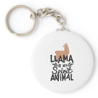 Cute Llama is My Spirit Animal Funny Keychain