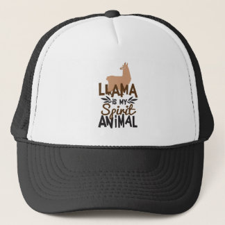 Cute Llama Is My Spirit Animal Print Trucker Hat