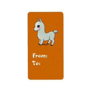 Cute Llama Label
