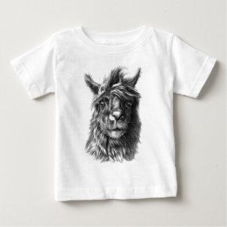 Cute Llama portrait Baby T-Shirt