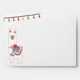 Cute llama & tassels design envelope