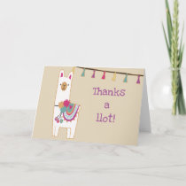 Cute llama & tassels thank you card