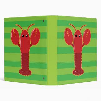 Cute Lobster 3 Ring Binder