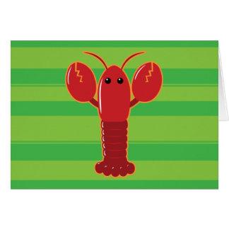 Cute Lobster Card