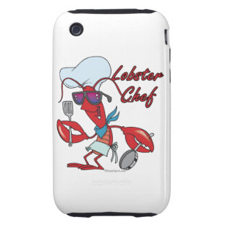 cute lobster chef cartoon iPhone 3 tough covers