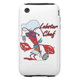 cute lobster chef cartoon iPhone 3 tough cover