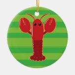 Cute Lobster Christmas Ornament