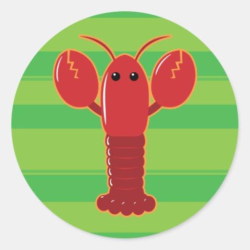 Cute Lobster Classic Round Sticker | Zazzle