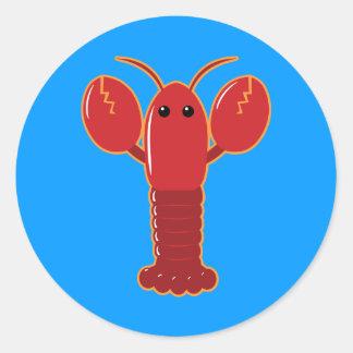 Cute Lobster Classic Round Sticker