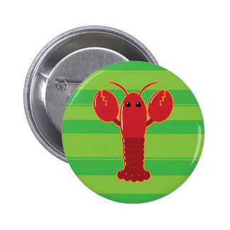 Cute Lobster Pinback Button
