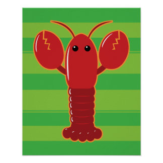 Cute Lobster Poster