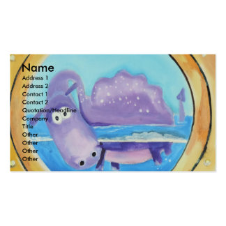 Cute Loch Ness monster looking through port hole Double-Sided Standard Business Cards (Pack Of 100)