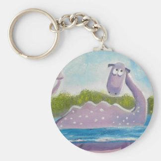 Cute loch ness monster picture keychain