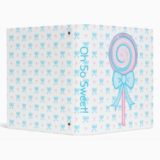 Cute Lollipop Binder