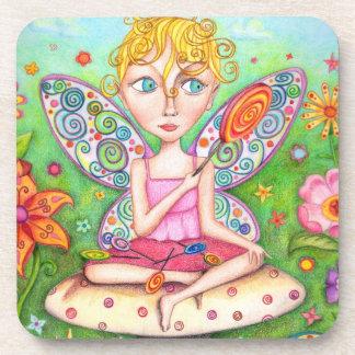 Cute Lollipop Fairy Coasters - Set of 6