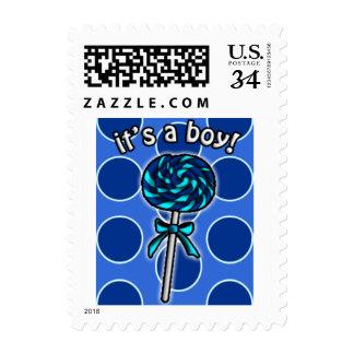 Cute Lollipop It's A Boy Lollipop Stamps
