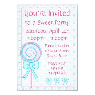 Cute Lollipop Party Invitation