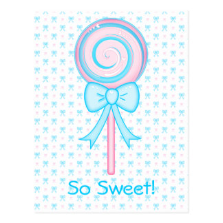 Cute Lollipop Postcard
