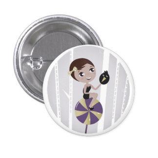 Cute lollipop Witch button