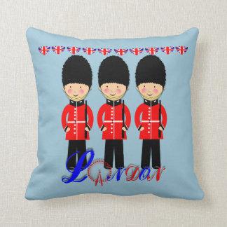 Cute London Guards Themed Design Throw Pillow