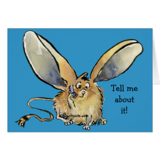 Cute Long Eared Jerboa Card - Customized