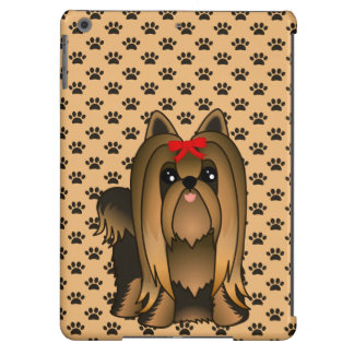 Cute Long Hair Yorkshire Terrier Puppy Dog Cover For iPad Air