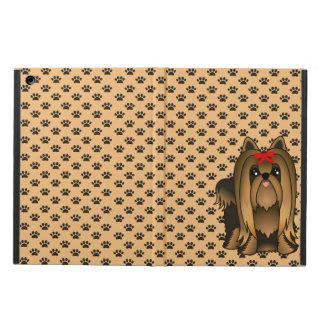 Cute Long Hair Yorkshire Terrier Puppy Dog iPad Cases