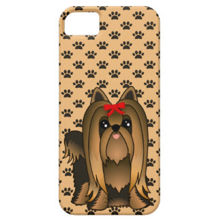 Cute Long Hair Yorkshire Terrier Puppy Dog iPhone 5 Covers
