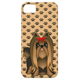 Cute Long Hair Yorkshire Terrier Puppy Dog iPhone SE/5/5s Case