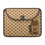 Cute Long Hair Yorkshire Terrier Puppy Dog Sleeve For MacBooks