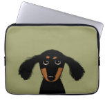 Cute Long Haired Dachshund Puppy Computer Sleeves