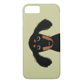 Cute Long Haired Dachshund Puppy iPhone 8/7 Case