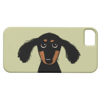 Cute Long Haired Dachshund Puppy iPhone SE/5/5s Case